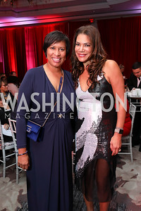 Muriel Bowser, Ann Walker Marchant. Photo by Tony Powell. 2018 Knock Out Abuse. Ritz Carlton. November 1, 2018