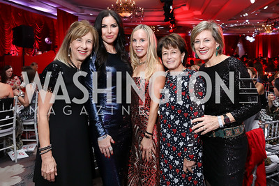 Nancy Taylor Bubes, Amy Baier, Cindy Jones, Toni Verstandig, Marcy Cohen. Photo by Tony Powell. 2018 Knock Out Abuse. Ritz Carlton. November 1, 2018