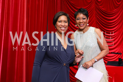 Muriel Bowser, Andrea Roane. Photo by Tony Powell. 2018 Knock Out Abuse. Ritz Carlton. November 1, 2018