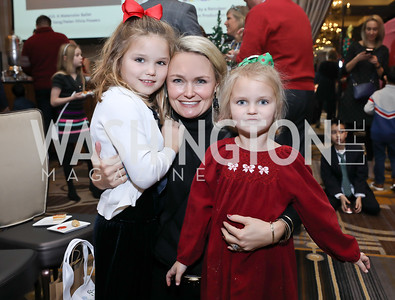 "Hailey, Courtney and Maddie Billings. Photo by Tony Powell. 2018 CNMC ""Light Up the Season."" Four Seasons. December 16, 2018"
