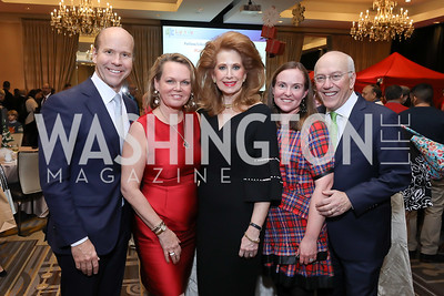 "Rep. John Delaney and April Delaney, Muffin Lynham, Shannon Burkhart, CNMC CEO Kurt Newman. Photo by Tony Powell. 2018 CNMC ""Light Up the Season."" Four Seasons. December 16, 2018"