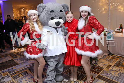 "Isabelle Guzzano, Dr. Bear, Erin Folger, Natalie Allan. Photo by Tony Powell. 2018 CNMC ""Light Up the Season."" Four Seasons. December 16, 2018"