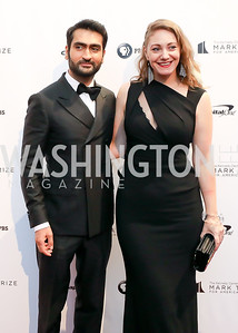 Kumail Nanjiani and Emily V Gordon. Photo by Tony Powell. 2018 Mark Twain Prize. Kennedy Center. October 21, 2018