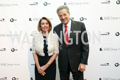 Nancy Pelosi, Paul Pelosi. Photo by Tony Powell. 2018 Mark Twain Prize. Kennedy Center. October 21, 2018