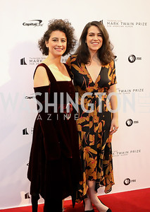 Broad City's Ilana Glazer and Abbi Jacobson. Photo by Tony Powell. 2018 Mark Twain Prize. Kennedy Center. October 21, 2018