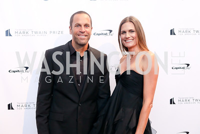 Jack Johnson and Kim Johnson. Photo by Tony Powell. 2018 Mark Twain Prize. Kennedy Center. October 21, 2018
