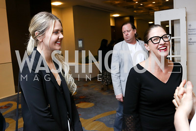 Jessica Conrad, Elizabeth Wise. Photo by Tony Powell. N Street Village Annual Gala. Marriott Marquis. March 14, 2018