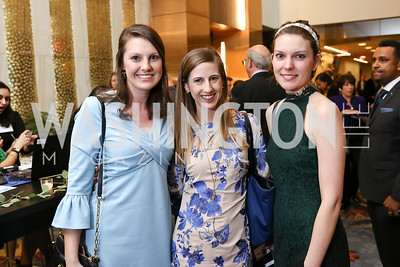 Jennifer Lancos, Ashley Wetzel, Meghan Hatcher. Photo by Tony Powell. N Street Village Annual Gala. Marriott Marquis. March 14, 2018