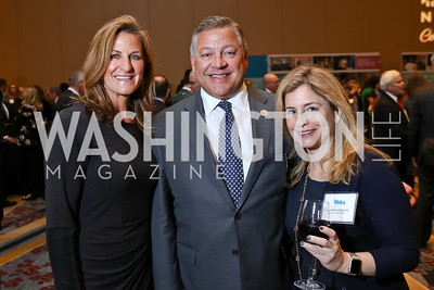 Shelley Rubino, Rep. Bill Shuster, Jennifer LaTourette. Photo by Tony Powell. N Street Village Annual Gala. Marriott Marquis. March 14, 2018