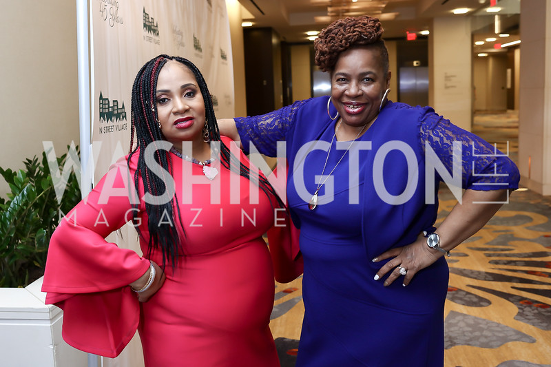 Honorees Rita Lewis and Alberta Williams. Photo by Tony Powell. N Street Village Annual Gala. Marriott Marquis. March 14, 2018