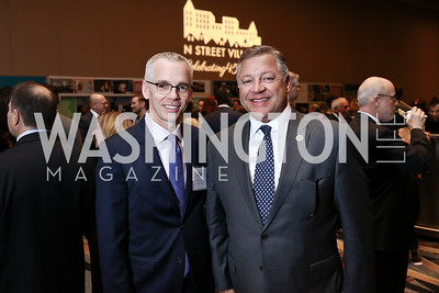 Peter Shields, Rep. Bill Shuster. Photo by Tony Powell. N Street Village Annual Gala. Marriott Marquis. March 14, 2018