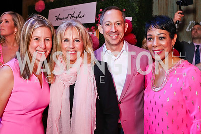 Caren Glassman, Dr. Jill Biden, Barry Glassman, WUSA's Andrea Roane. Photo by Tony Powell. 2018 Newsbash. Pearl Street Warehouse. February 20, 2018