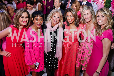 Alison Starling, Andrea Roane, Dr. Jill Biden, WUSA's Lesli Foster, Laura Evans, WUSA 9's Kristen Berset. Photo by Tony Powell. 2018 Newsbash. Pearl Street Warehouse. February 20, 2018