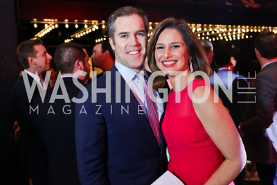 NBC's Peter Alexander, WJLA's Alison Starling. Photo by Tony Powell. 2018 Newsbash. Pearl Street Warehouse. February 20, 2018