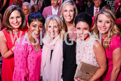 Alison Starling, Andrea Roane, Dr. Jill Biden, Laura Evans, Angie Goff, WUSA 9's Kristen Berset. Photo by Tony Powell. 2018 Newsbash. Pearl Street Warehouse. February 20, 2018
