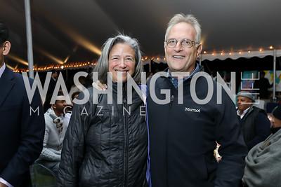 Debra Yogodzinski, Steve Green. Photo by Tony Powell. Night at the Point. James Creek Marina. October 19, 2018