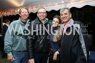 Living Classrooms Board Chair Daryl Owen, Tim Gillis, Sophia Rosetti and Richard Rosetti. Photo by Tony Powell. Night at the Point. James Creek Marina. October 19, 2018