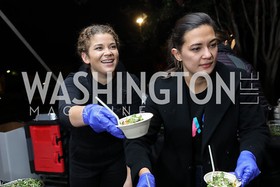 Rasa's Jackie Breuer and Asha Pradhan. Photo by Tony Powell. Night at the Point. James Creek Marina. October 19, 2018