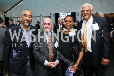 "Ray Llanos, Bruce Cohen, Honoree Annabelle Lockhart, BJ Cecil. Photo by Tony Powell. ""Night of Hope."" 101 Constitution. October 11, 2018"