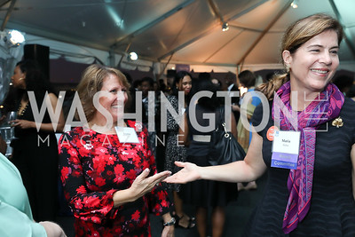 """Lynne Zink, Maria Weber. Photo by Tony Powell. """"Night of Hope."""" 101 Constitution. October 11, 2018"""