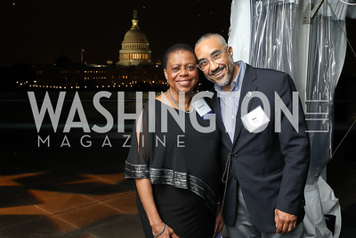 """Honoree Annabelle Lockhart, Ray Llanos. Photo by Tony Powell. """"Night of Hope."""" 101 Constitution. October 11, 2018"""