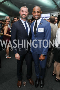 """Wayne Fortune, Brandon Clay. Photo by Tony Powell. """"Night of Hope."""" 101 Constitution. October 11, 2018"""