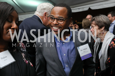 """Board Chair Dr. Tabari Baker. Photo by Tony Powell. """"Night of Hope."""" 101 Constitution. October 11, 2018"""