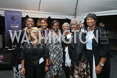 "Jan White, Valerie Holt, Courtney Lattimore, Kyndra Jones, Pat Carter, Violet Parker, Marian Pegram. Photo by Tony Powell. ""Night of Hope."" 101 Constitution. October 11, 2018"