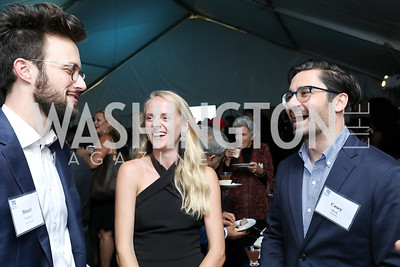 "Stuart Hudson, Abby Mock, Casey Mock. Photo by Tony Powell. ""Night of Hope."" 101 Constitution. October 11, 2018"