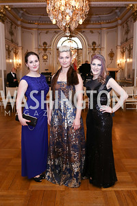 Anna Sineva, Princess Alexandra Obolensky, Melissa Athey. Photo by Tony Powell. 2018 Russian Ball. January 13, 2018