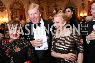 Annie Totah, Bob and Olga Ryan. Photo by Tony Powell. 2018 Russian Ball. January 13, 2018