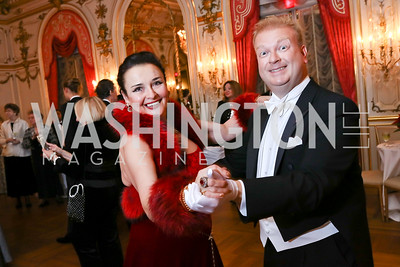Rhoda Septilici, Paul du Quenoy. Photo by Tony Powell. 2018 Russian Ball. January 13, 2018