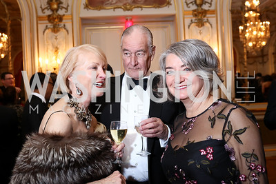 Lola Reinsch, Michael Pochna, Sweden Amb. Karin Olofsdotter. Photo by Tony Powell. 2018 Russian Ball. January 13, 2018