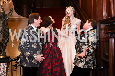 Tom Knoll, Martha Krabill, Marina Mirabella, Jose Alberto Ucles. Photo by Tony Powell. 2018 Russian Ball. January 13, 2018