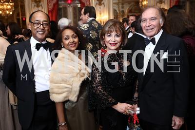 Prince Ermias Sahle-Selassie and Saba Kebede, Annie Totah and Leo Sahakian. Photo by Tony Powell. 2018 Russian Ball. January 13, 2018