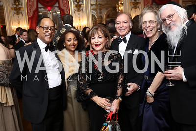 Prince Ermias Sahle-Selassie and Saba Kebede, Annie Totah and Leo Sahakian, Daria Fane and Rabbi Reuven Schlenker. Photo by Tony Powell. 2018 Russian Ball. January 13, 2018