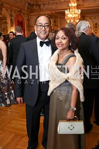 Prince Ermias Sahle-Selassie and Saba Kebede. Photo by Tony Powell. 2018 Russian Ball. January 13, 2018