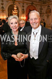 Rose Marie Bogley, Bob Heggestad. Photo by Tony Powell. 2018 Russian Ball. January 13, 2018