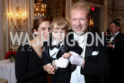 Irina, Charlie, and Paul du Quenoy. Photo by Tony Powell. 2018 Russian Ball. January 13, 2018