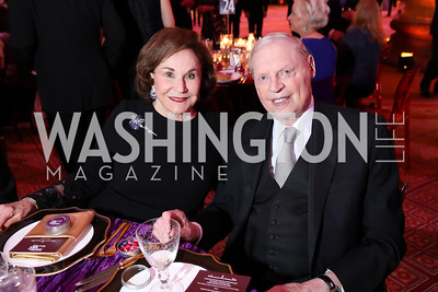 Alma and Joe Gildenhorn. Photo by Tony Powell. 2018 Shakespeare Theatre Co. Gala. Building Museum. October 14, 2018