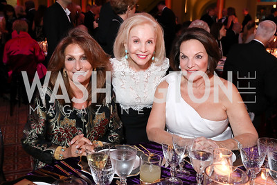 Sandy Hoffman, Evelyn Brandt, Grace Bender. Photo by Tony Powell. 2018 Shakespeare Theatre Co. Gala. Building Museum. October 14, 2018