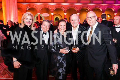 Jane and Calvin Cafritz, Alma Powell, Victor Shargai and Craig Pascal. Photo by Tony Powell. 2018 Shakespeare Theatre Co. Gala. Building Museum. October 14, 2018