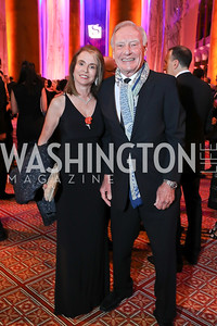 Isabel and Jerry Jasinowski. Photo by Tony Powell. 2018 Shakespeare Theatre Co. Gala. Building Museum. October 14, 2018