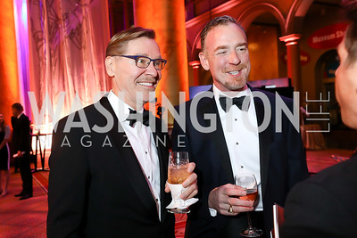Michael Olding, Chris Morrison. Photo by Tony Powell. 2018 Shakespeare Theatre Co. Gala. Building Museum. October 14, 2018