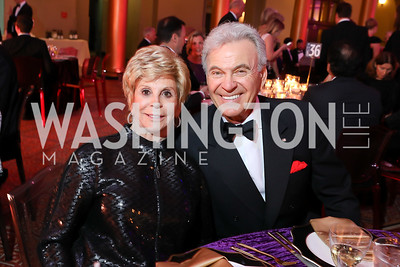 Wilma Bernstein, Stuart Bernstein. Photo by Tony Powell. 2018 Shakespeare Theatre Co. Gala. Building Museum. October 14, 2018