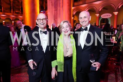 Bill Nitze, Francesca Craig, Chris Liddell. Photo by Tony Powell. 2018 Shakespeare Theatre Co. Gala. Building Museum. October 14, 2018