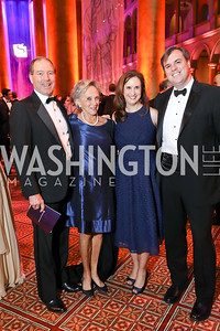 Sen. Tom Udall and Jill Udall, Betsy Fischer Martin and Jonathan Martin. Photo by Tony Powell. 2018 Shakespeare Theatre Co. Gala. Building Museum. October 14, 2018