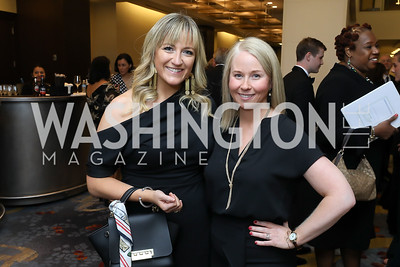 Alexandra Schauffler, Tara Arras. Photo by Tony Powell. 2018 Spanish Catholic Center Gala. Marriott Marquis. October 27, 2018