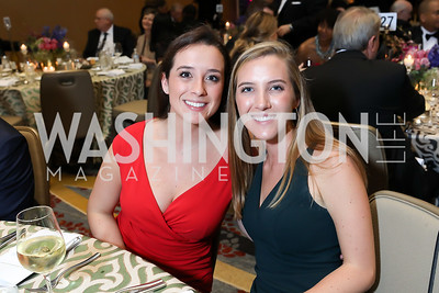 Natalie and Veronica Dolan. Photo by Tony Powell. 2018 Spanish Catholic Center Gala. Marriott Marquis. October 27, 2018
