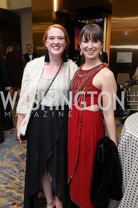 Bridget Maley, Brittany Patten. Photo by Tony Powell. 2018 Spanish Catholic Center Gala. Marriott Marquis. October 27, 2018